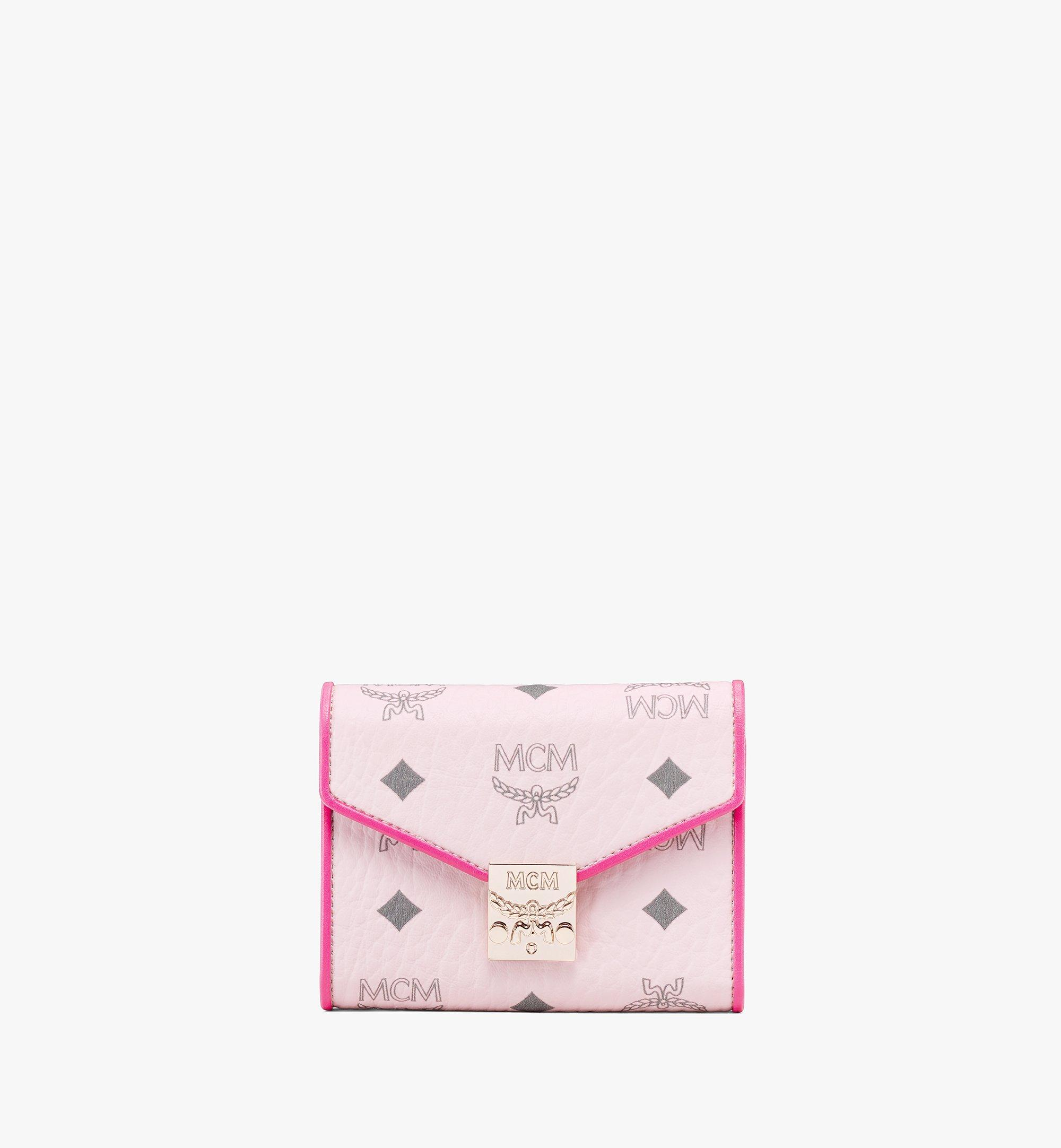 MCM 〈パトリシア〉三つ折りウォレット - ヴィセトス レザー ブロック Pink MYSAAPA05QH001 Alternate View 1