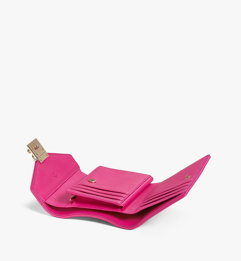 MCM Patricia Trifold Wallet in Visetos Leather Block Pink MYSAAPA05QH001 Alternate View 2