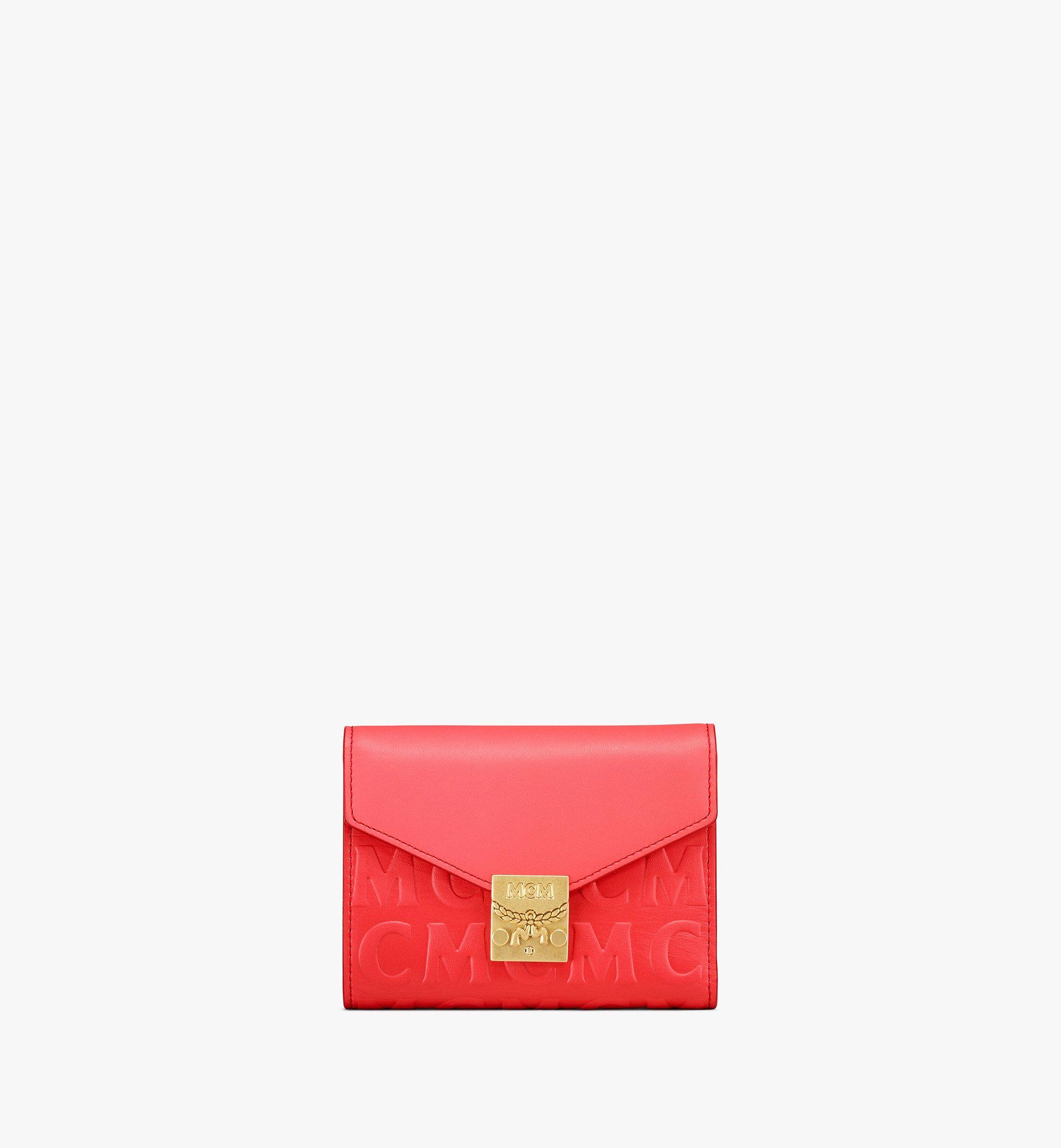 MCM Patricia Trifold Wallet in MCM Monogram Leather Red MYSAAPA06RP001 Alternate View 1