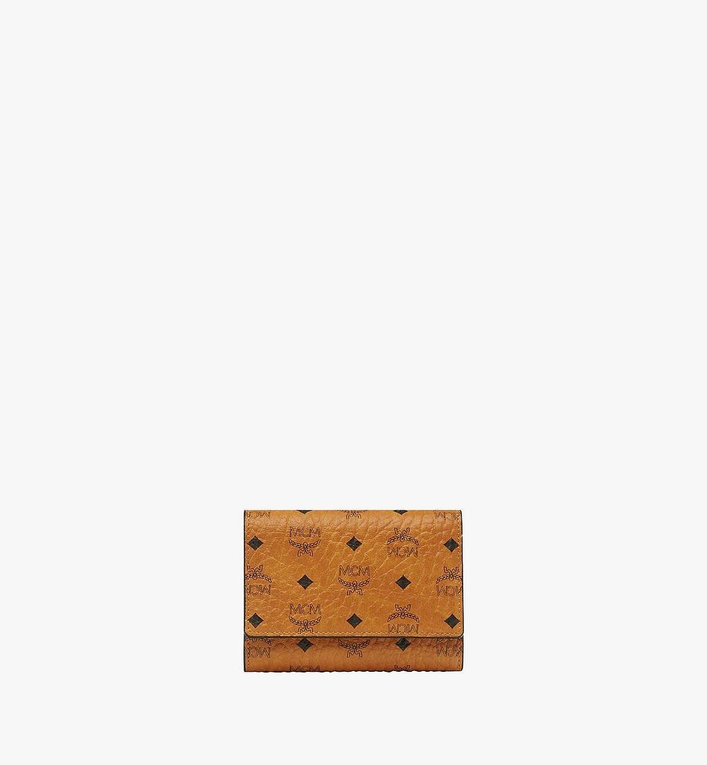 MCM Trifold Wallet in Visetos Original Cognac MYSAAVI01CO001 Alternate View 1