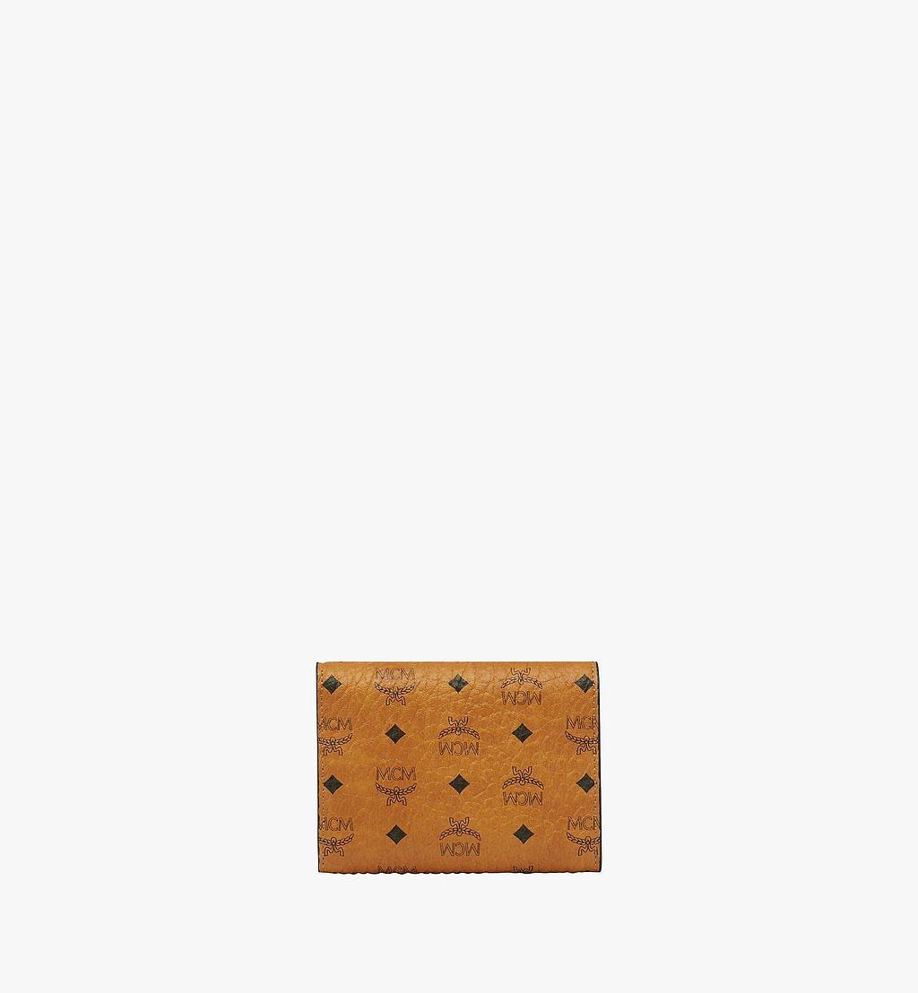 MCM Trifold Wallet in Visetos Original Cognac MYSAAVI01CO001 Alternate View 2