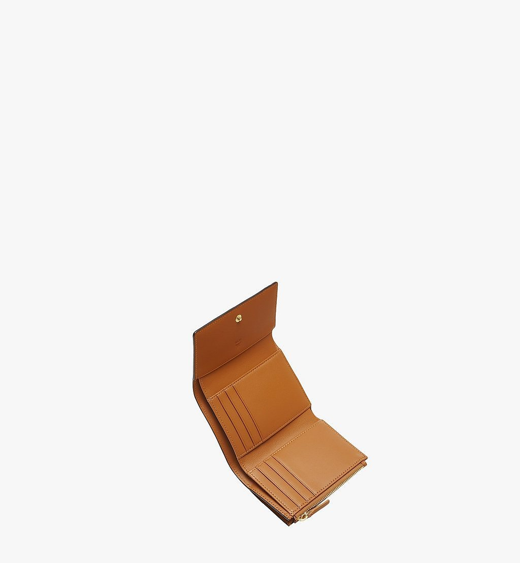 MCM Dreifach gefaltete Brieftasche in Visetos Original Cognac MYSAAVI01CO001 Noch mehr sehen 3