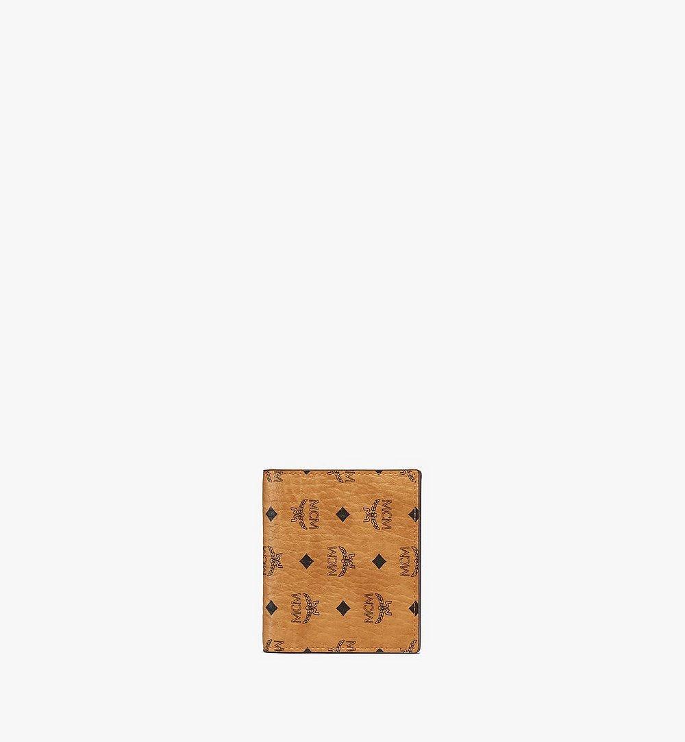 MCM Flat Wallet in Visetos Original Cognac MYSAAVI02CO001 Alternate View 1