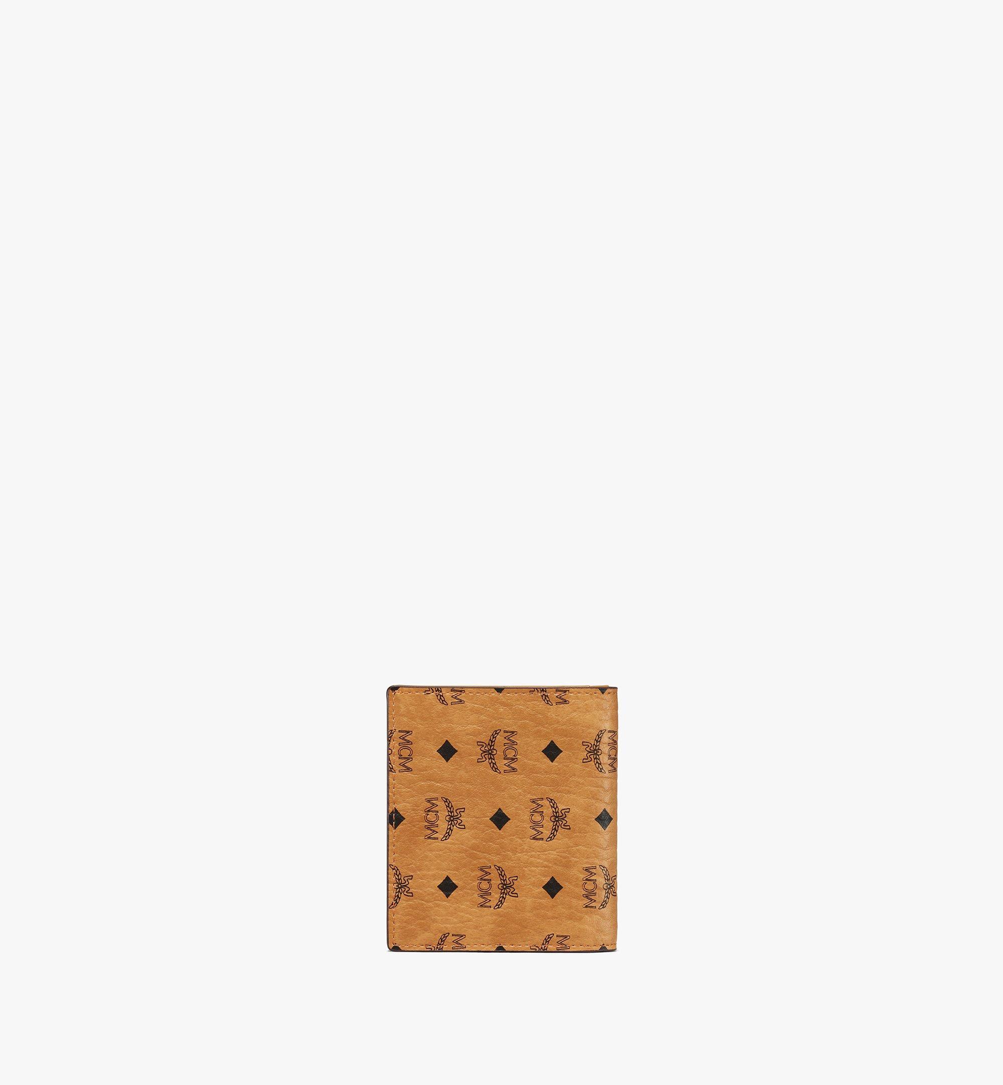 MCM Flat Wallet in Visetos Original Cognac MYSAAVI02CO001 Alternate View 2