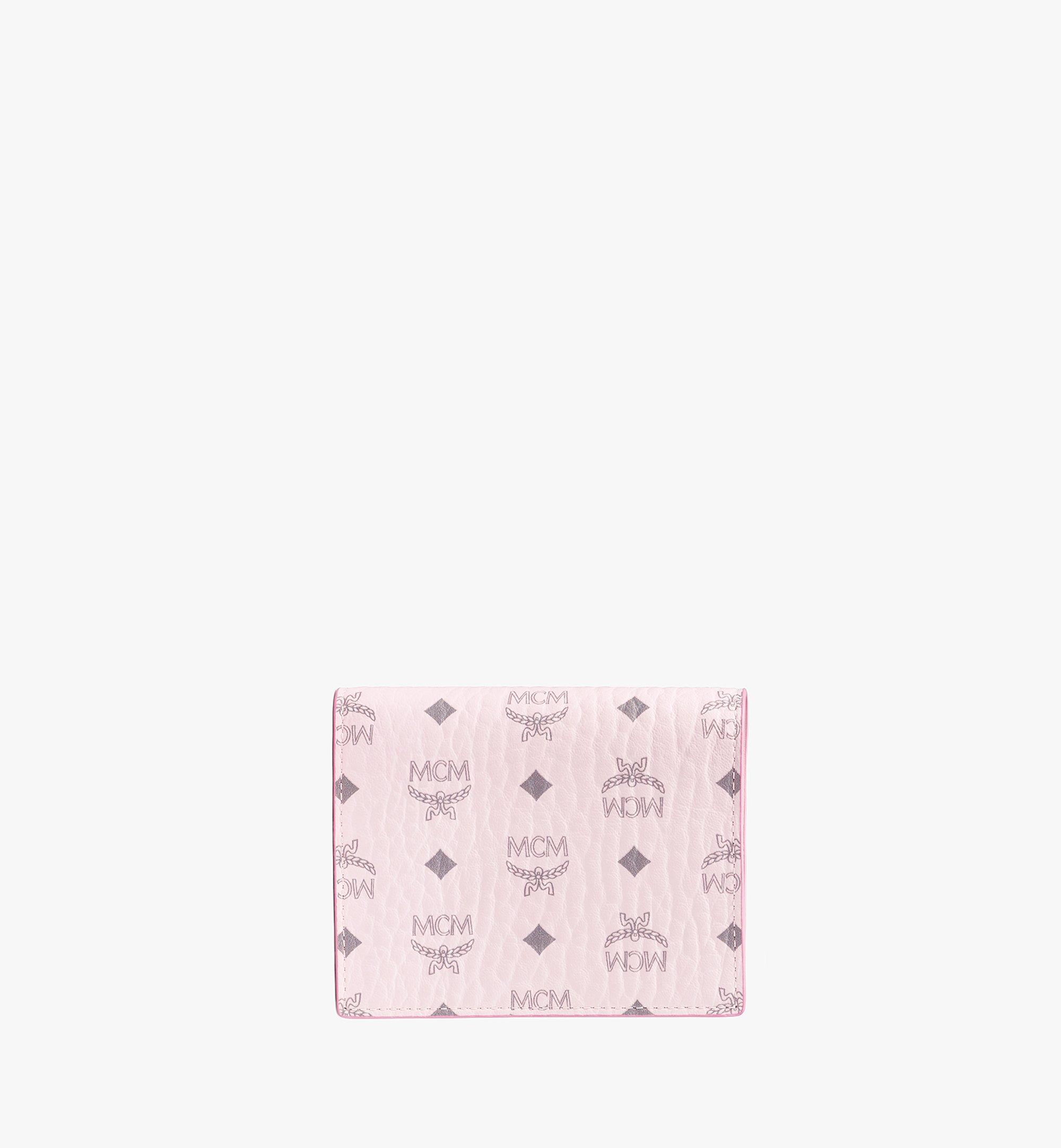 MCM Flat Wallet in Visetos Original Pink MYSAAVI03QH001 Alternate View 1