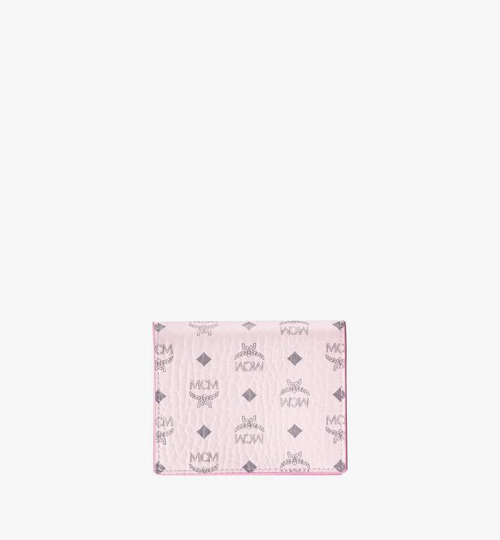 MCM Flat Wallet in Visetos Original Pink MYSAAVI03QH001 Alternate View 2
