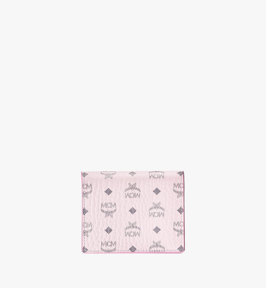 MCM Flat Wallet in Visetos Original Pink MYSAAVI03QH001 Alternate View 1