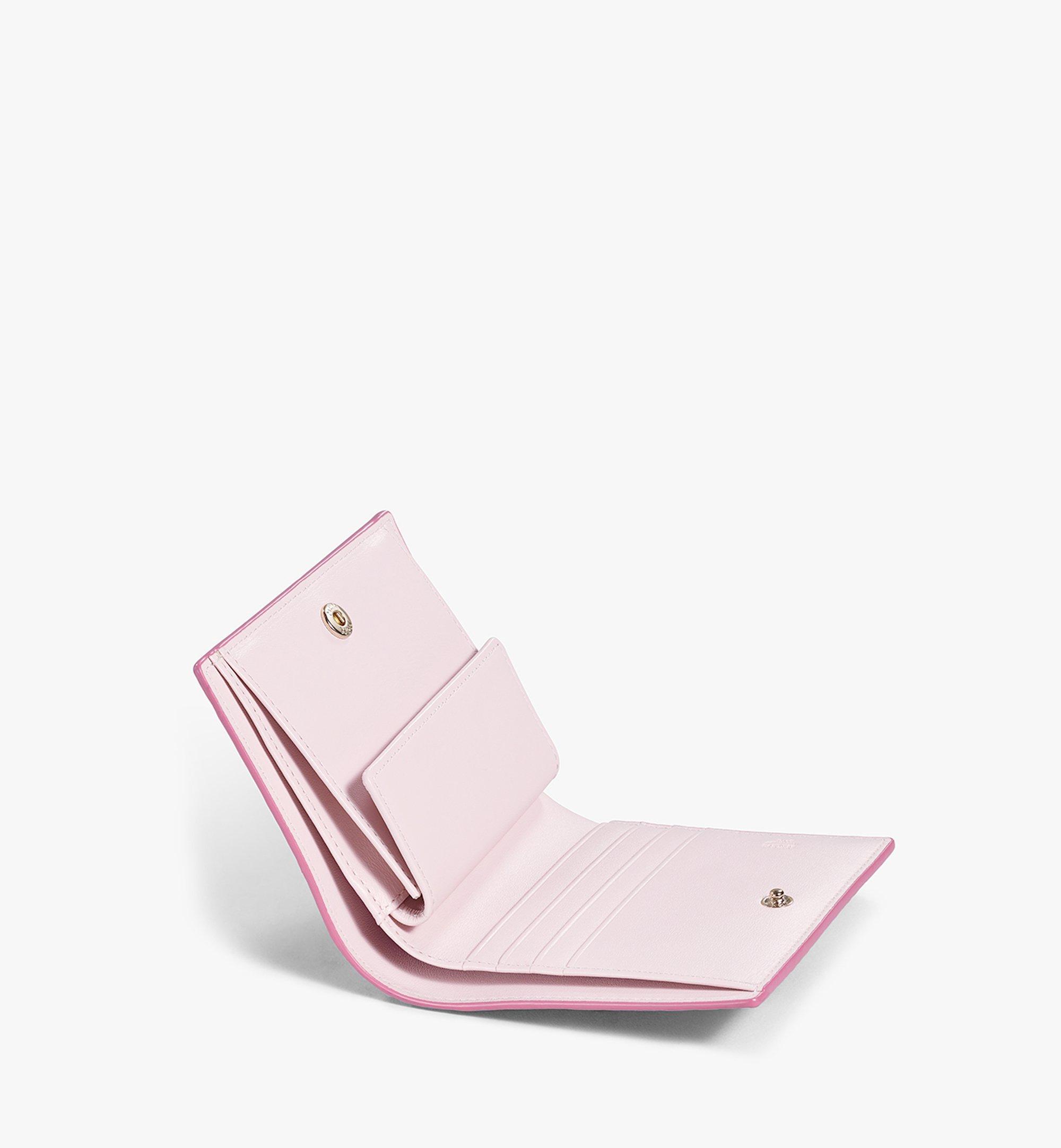 MCM Flat Wallet in Visetos Original Pink MYSAAVI03QH001 Alternate View 3