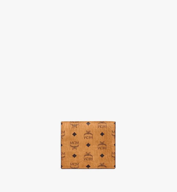 MCM Bifold Flat Wallet in Berlin Bear Visetos Cognac MYSAAVI04CO001 Alternate View 3