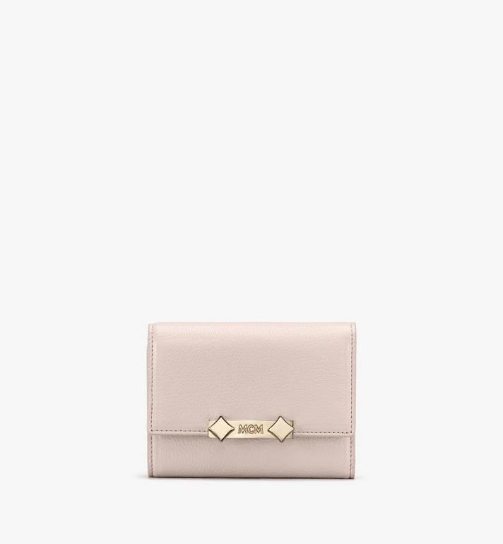 MCM Milano Three-Fold Wallet in Goatskin Leather Alternate View
