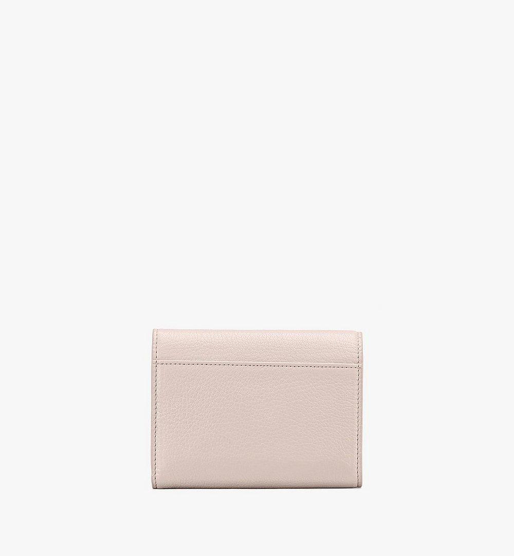 MCM Milano Three-Fold Wallet in Goatskin Leather Beige MYSASDA01IH001 Alternate View 1