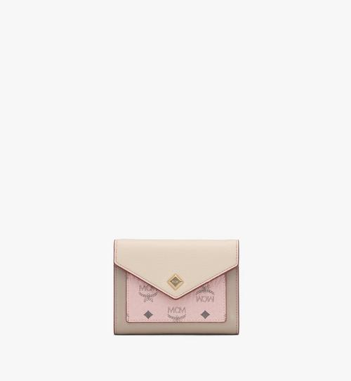 Love Letter Trifold Wallet in Color Block Leather