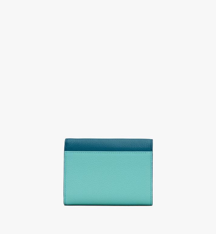 MCM Love Letter Brieftasche aus Leder in Park Avenue Green MYSASLV02JF001 Alternate View 2