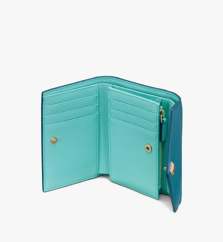 MCM Love Letter Brieftasche aus Leder in Park Avenue Green MYSASLV02JF001 Alternate View 3