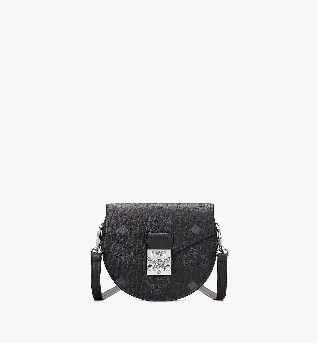 MCM Patricia Round Crossbody Wallet in Visetos Black MYSASPA01BK001 Alternate View 1