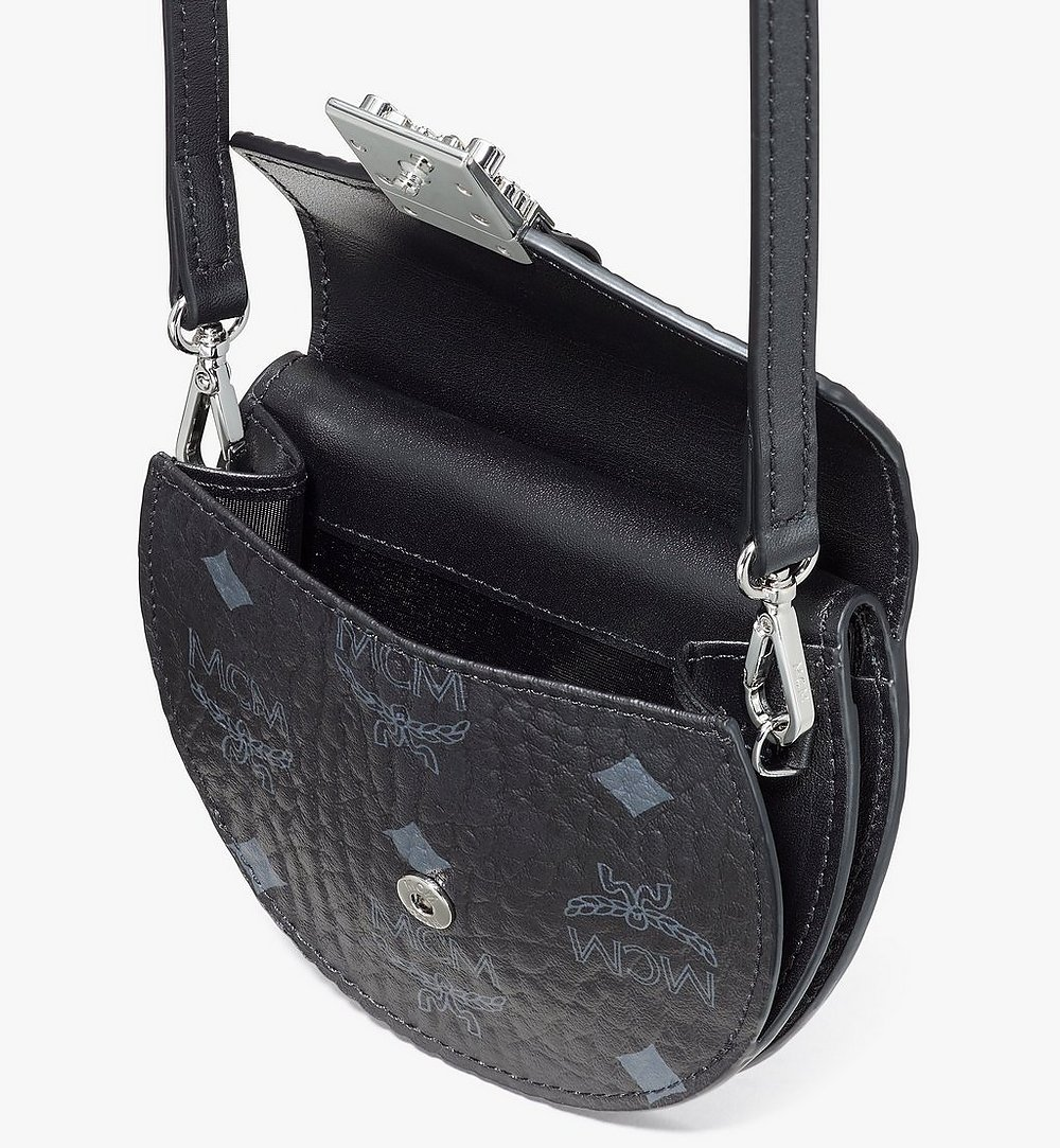MCM Patricia Round Crossbody Wallet in Visetos Black MYSASPA01BK001 Alternate View 3
