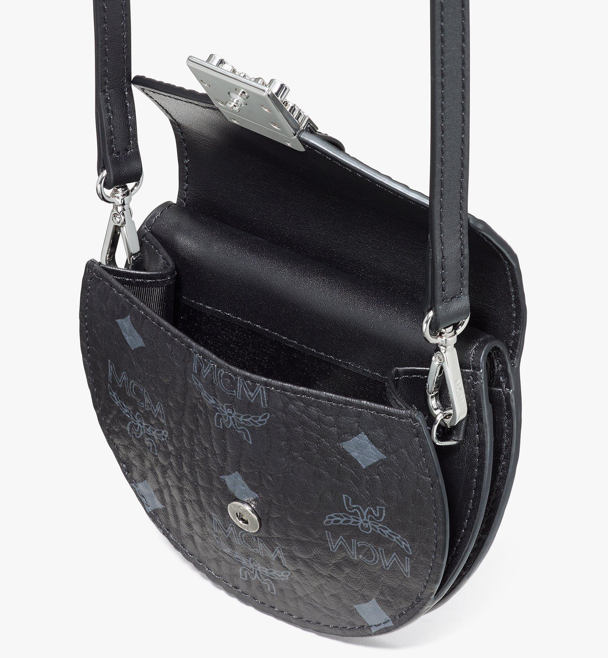 MCM Patricia Round Crossbody Wallet in Visetos Black MYSASPA01BK001 Alternate View 4