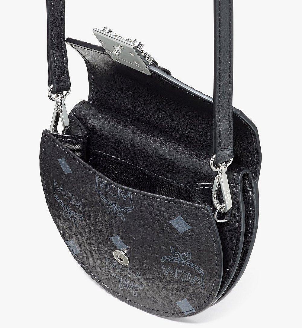 MCM Runde Patricia Crossbody-Brieftasche in Visetos Black MYSASPA01BK001 Noch mehr sehen 3