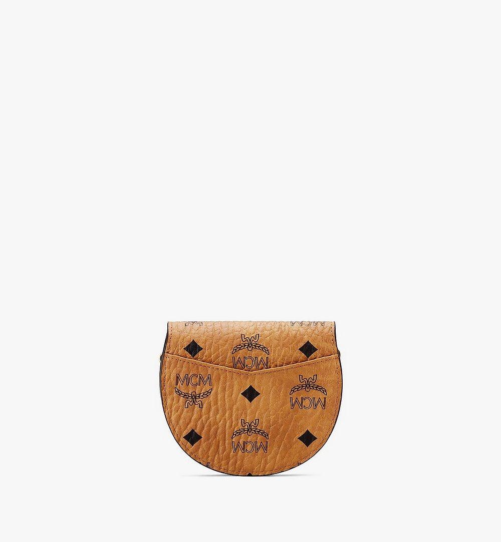 MCM Patricia Round Crossbody Wallet in Visetos Cognac MYSASPA01CO001 Alternate View 1