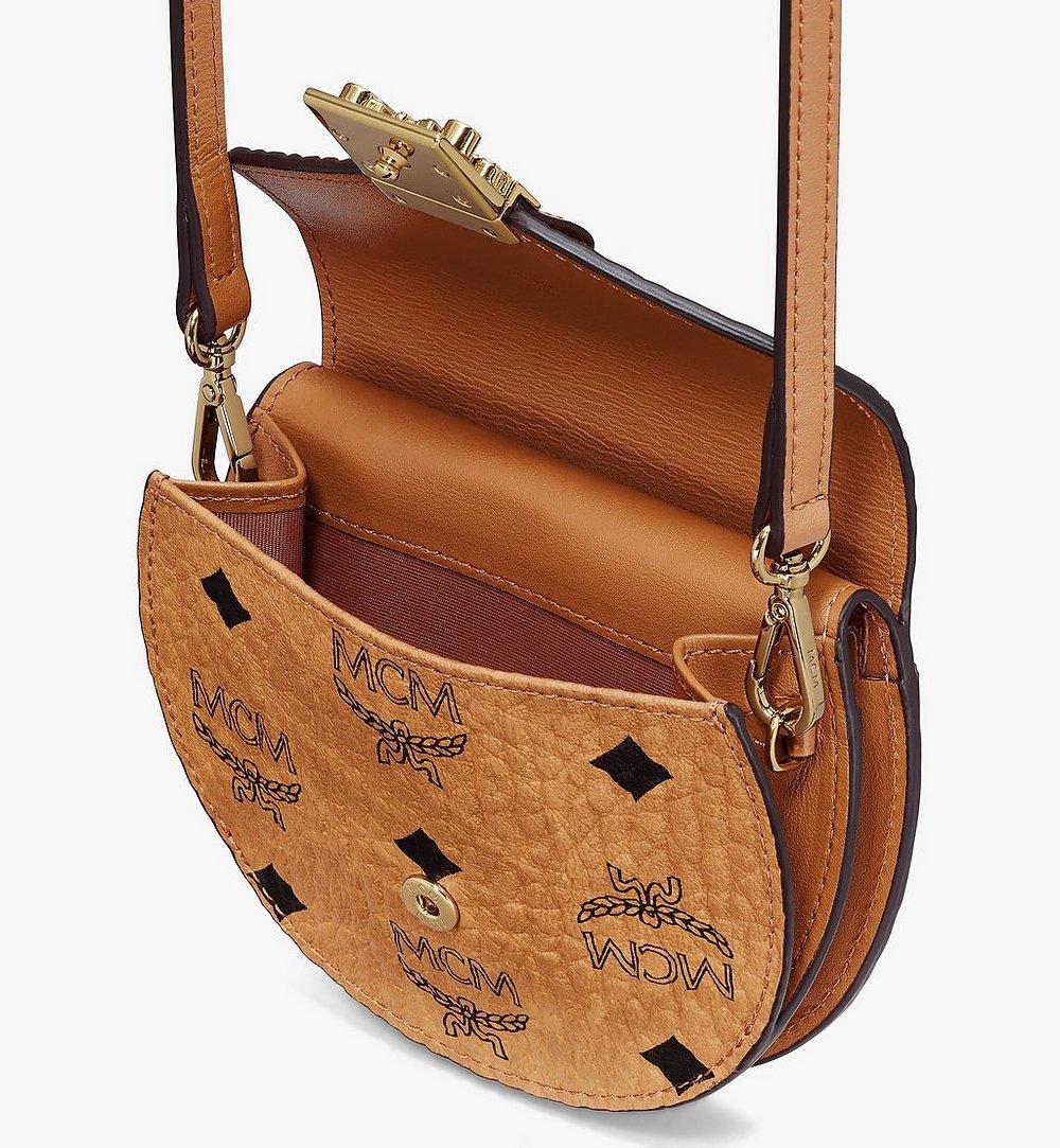 MCM Patricia Round Crossbody Wallet in Visetos Cognac MYSASPA01CO001 Alternate View 3