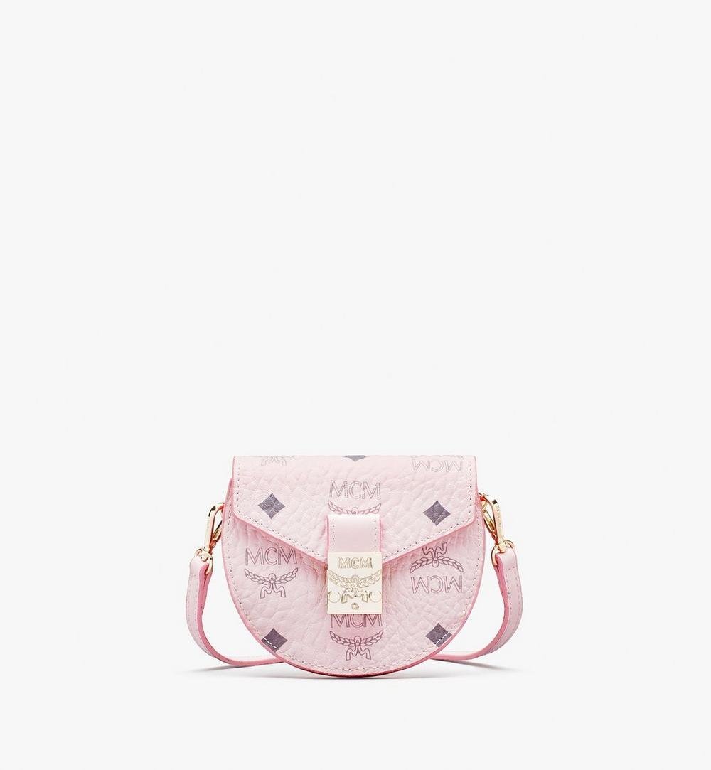 Patricia Round Crossbody Wallet in Visetos 1