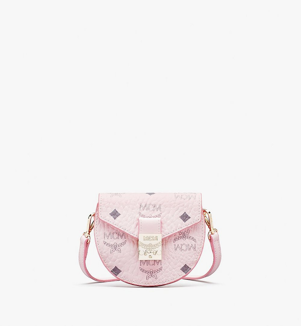MCM Patricia Round Crossbody Wallet in Visetos Pink MYSASPA01QH001 Alternate View 1
