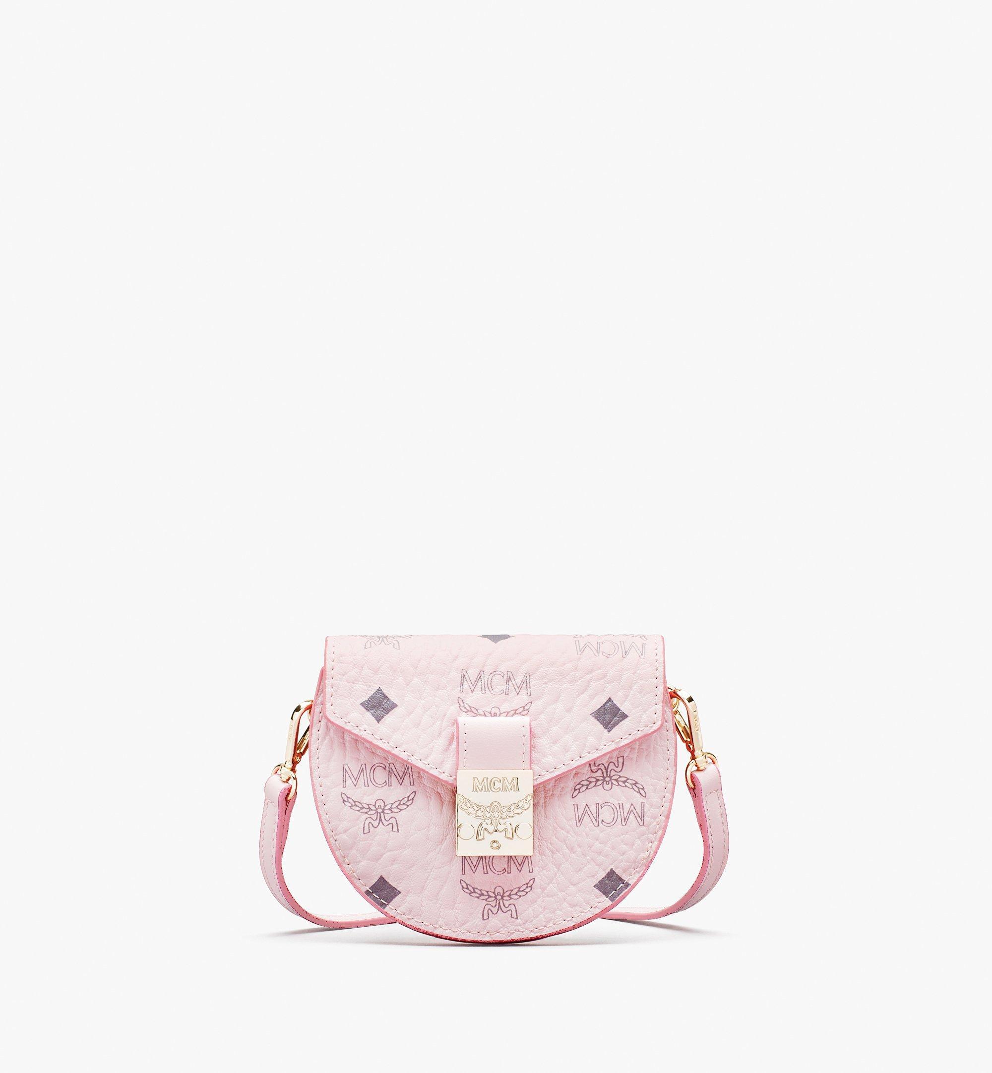 MCM Patricia Round Crossbody Wallet in Visetos Pink MYSASPA01QH001 Alternate View 1