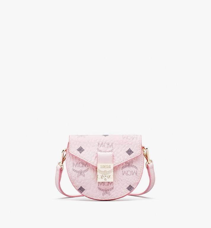 MCM Runde Patricia Crossbody-Brieftasche in Visetos Pink MYSASPA01QH001 Alternate View 1