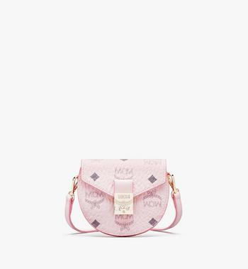 MCM Patricia Round Crossbody Wallet in Visetos Alternate View