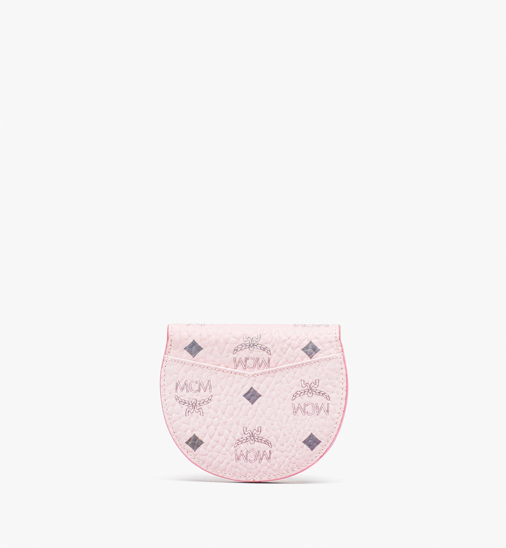MCM Runde Patricia Crossbody-Brieftasche in Visetos Pink MYSASPA01QH001 Noch mehr sehen 1