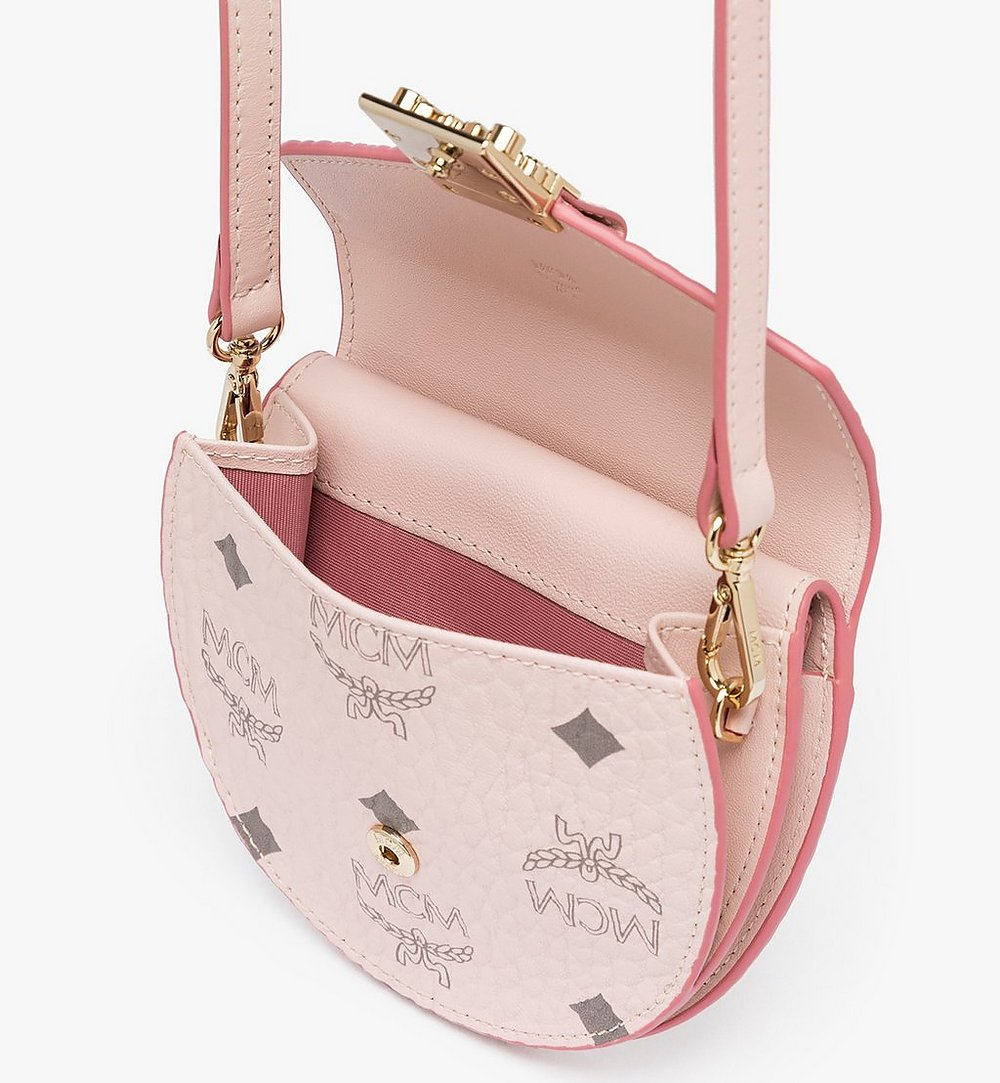 MCM Patricia Round Crossbody Wallet in Visetos Pink MYSASPA01QH001 Alternate View 3
