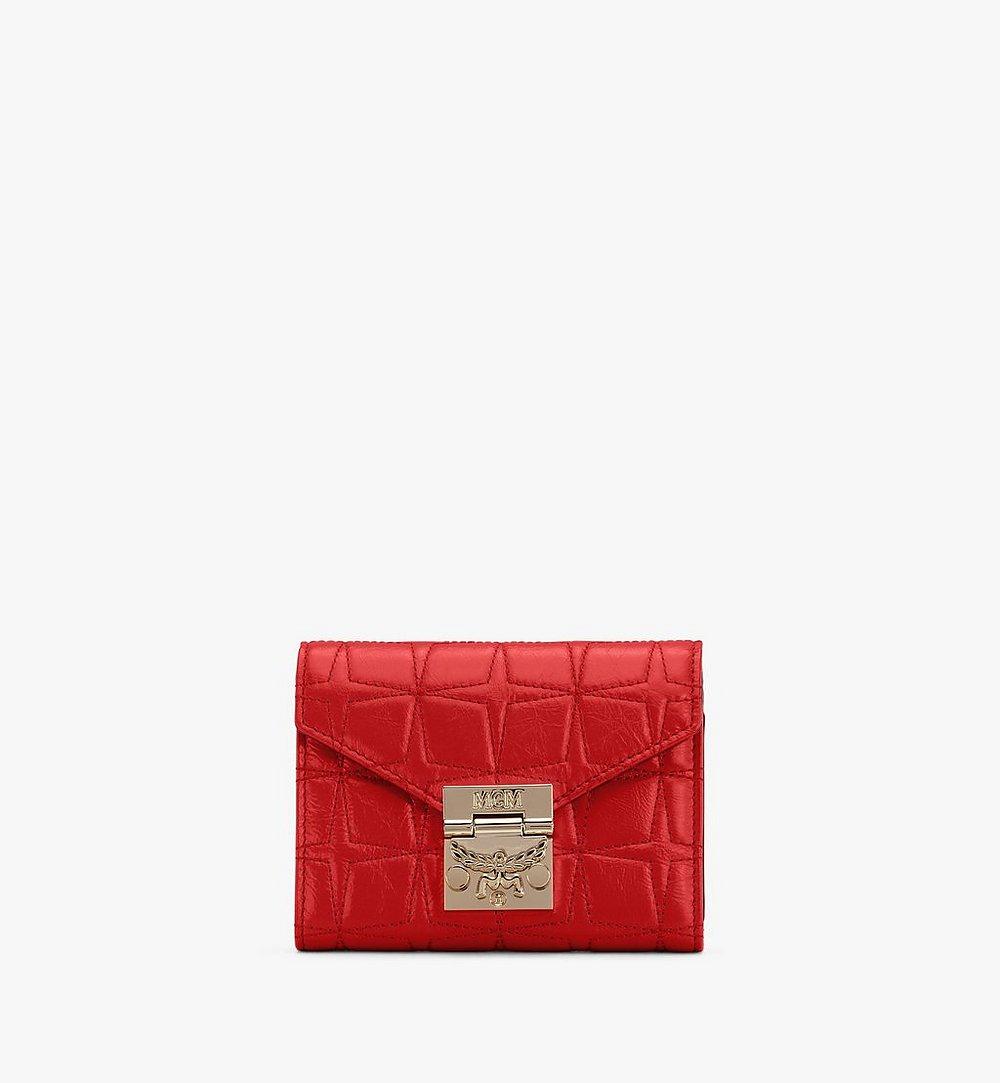MCM Patricia菱紋皮革三折皮包 Red MYSASPA02R4001 更多視圖 1