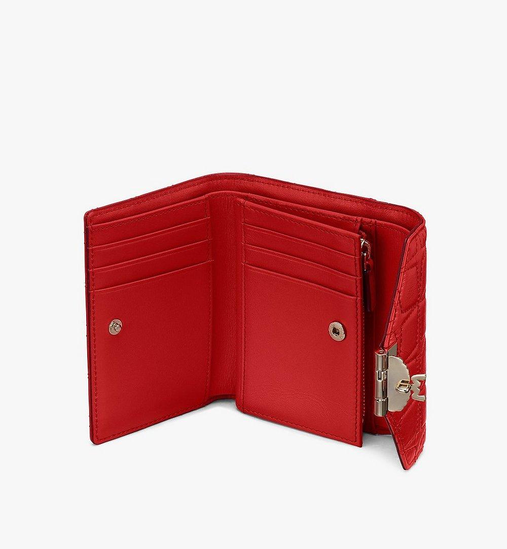 MCM Patricia菱紋皮革三折皮包 Red MYSASPA02R4001 更多視圖 2