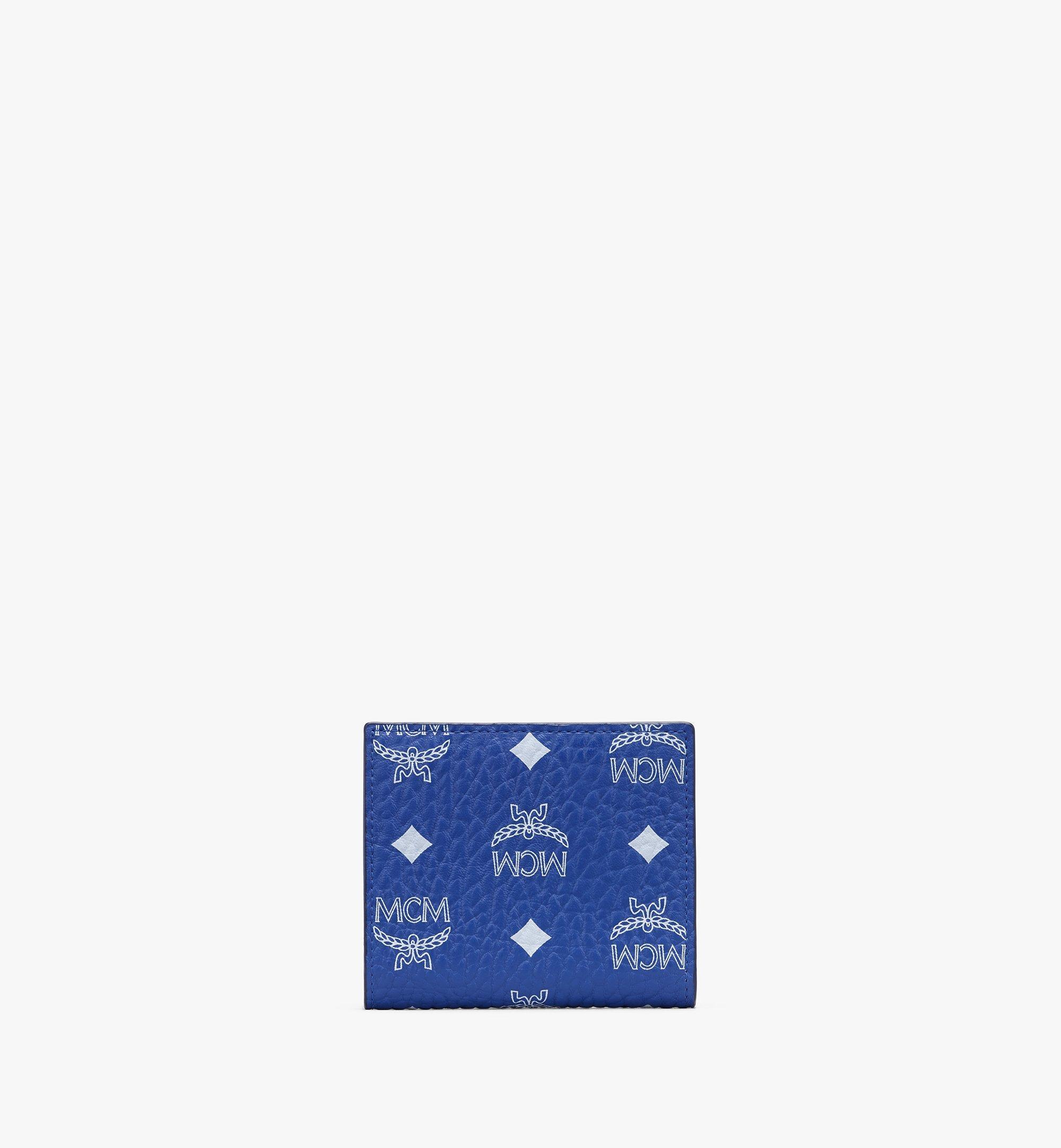 MCM Visetos 皮革 Claus 雙折錢包 Blue MYSASVI01H1001 更多視圖 1