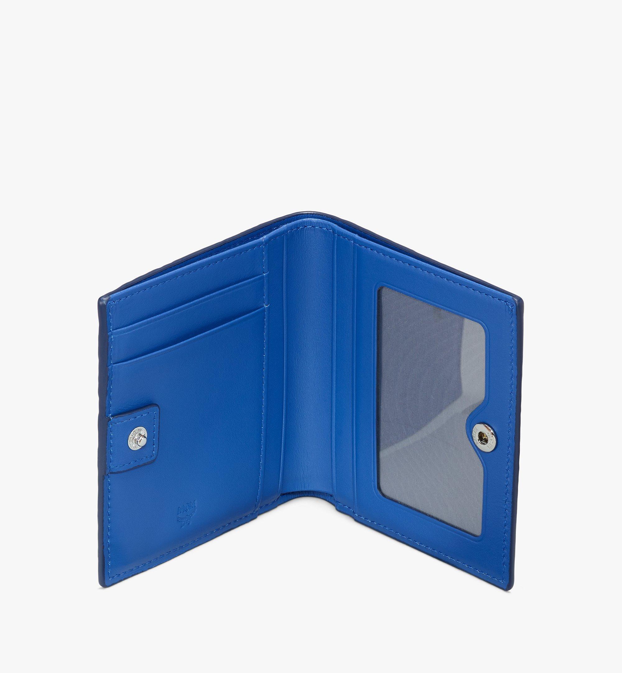 MCM Visetos 皮革 Claus 雙折錢包 Blue MYSASVI01H1001 更多視圖 2