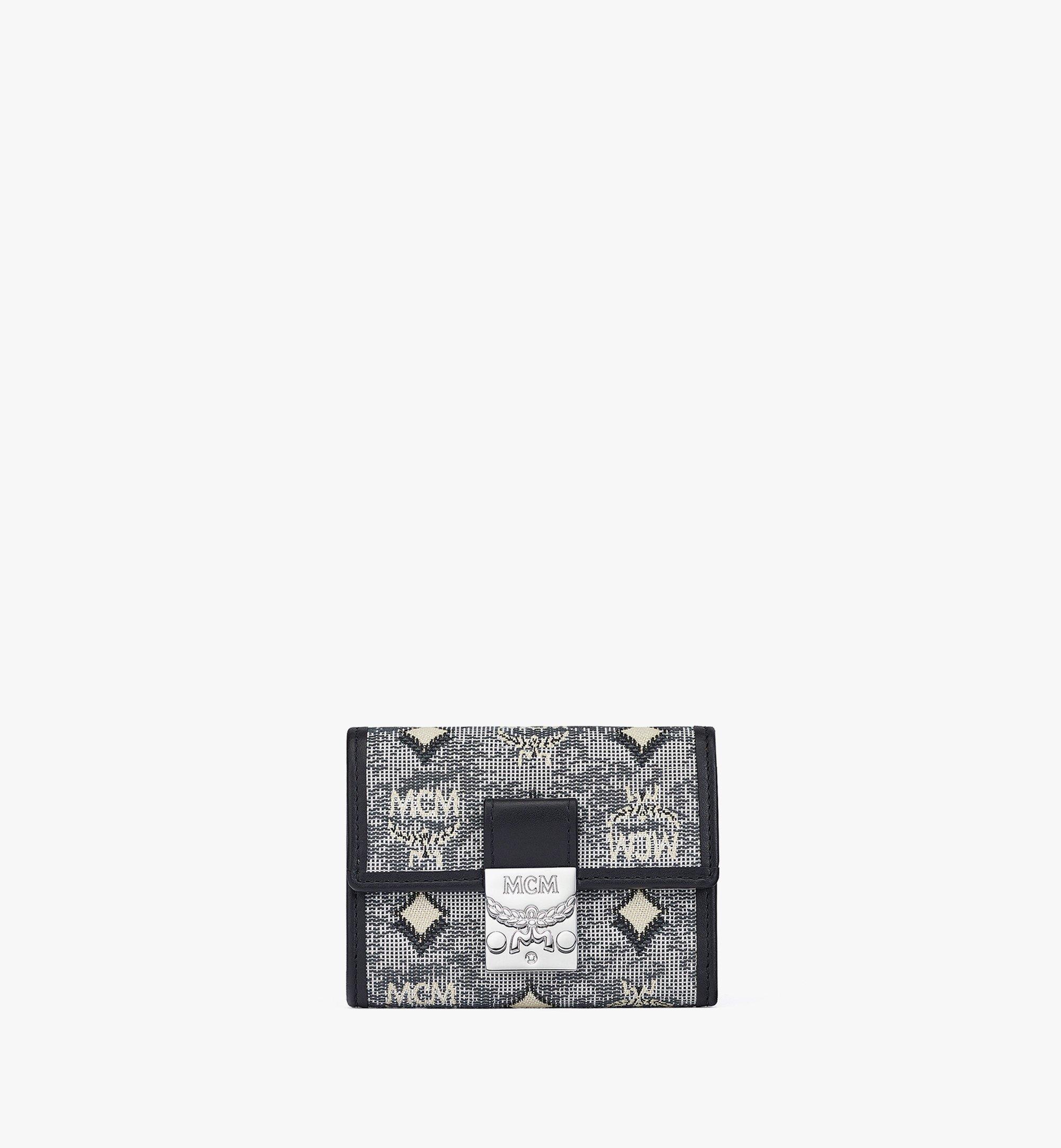 MCM Dreifach gefaltete Brieftasche aus Vintage-Jacquard mit Monogramm Grey MYSBATQ01EG001 Noch mehr sehen 1
