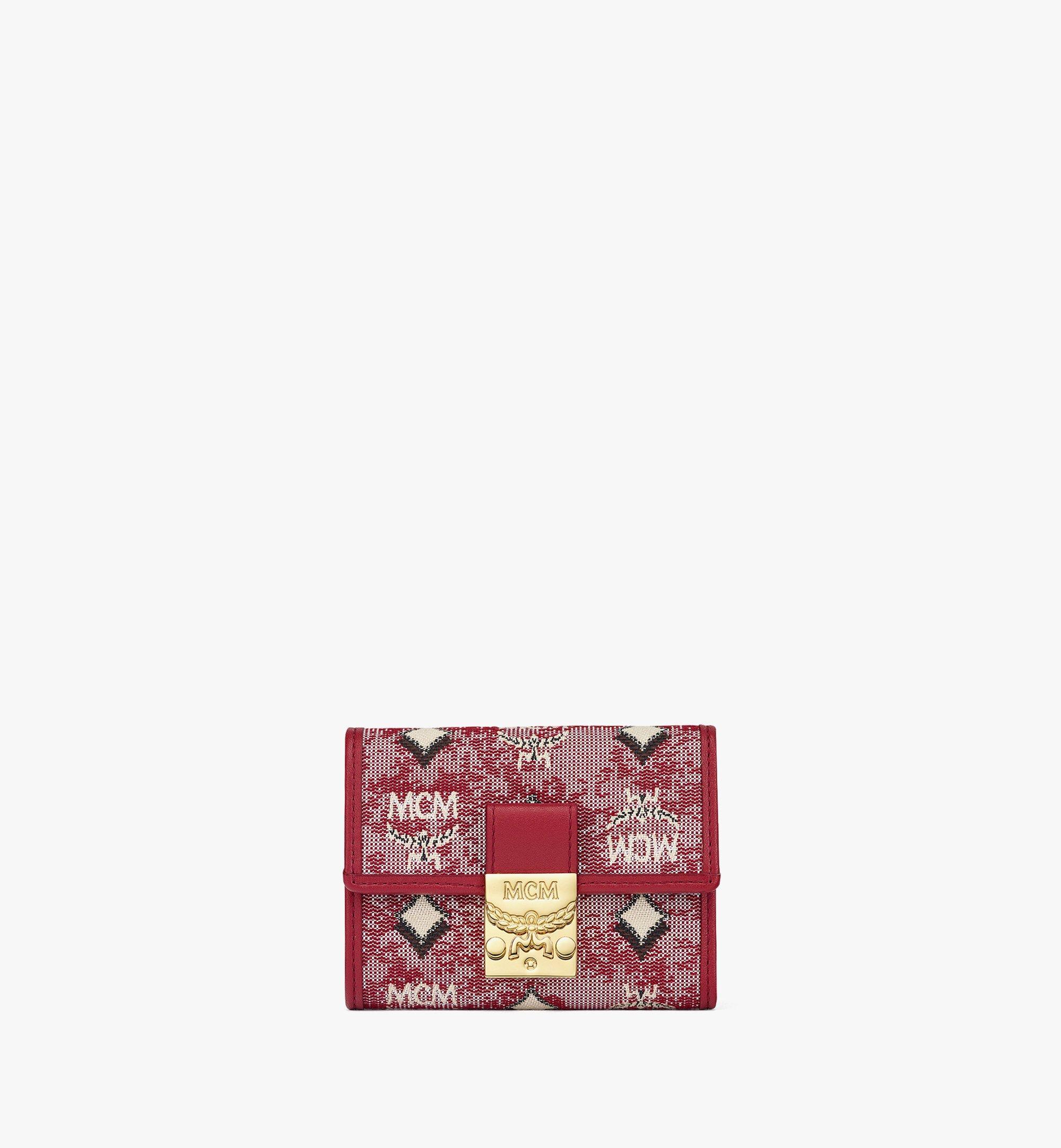 MCM Vintage Jacquard Monogram 三折式钱包 Red MYSBATQ01RE001 更多视角 1