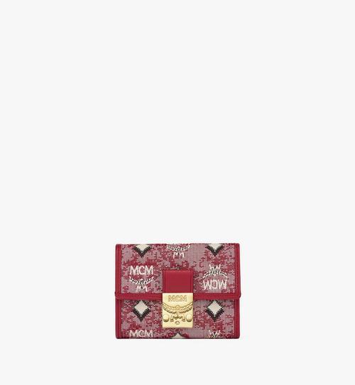 빈티지 자카드 모노그램 3단 지갑