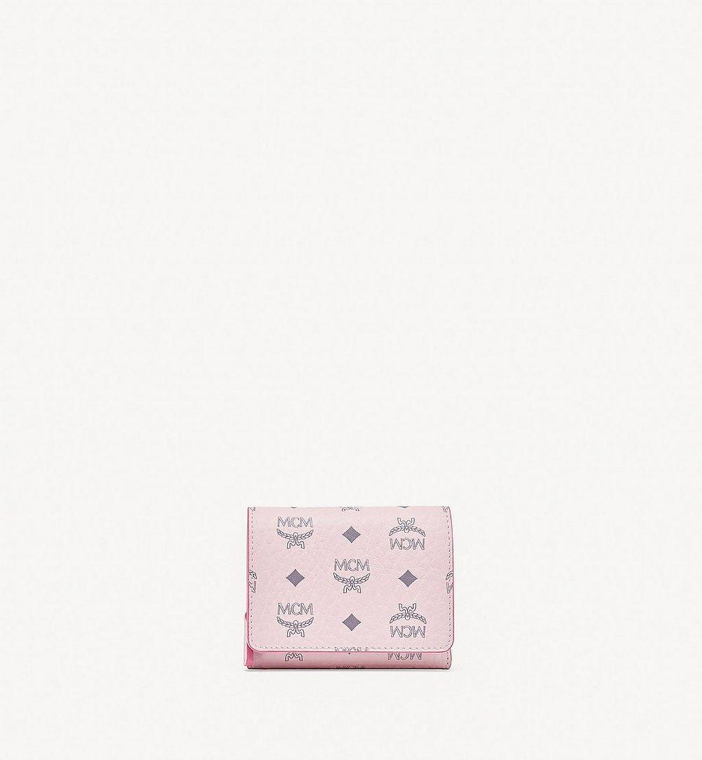 MCM Trifold Wallet in Visetos Original Pink MYSBSVI01QH001 Alternate View 1