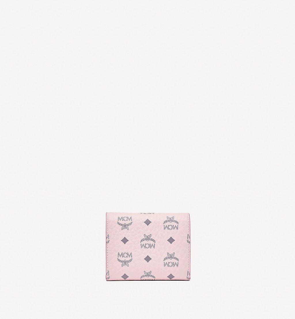 MCM Trifold Wallet in Visetos Original Pink MYSBSVI01QH001 Alternate View 2