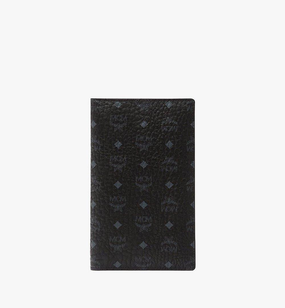 MCM Passport Holder in Visetos Original Black MYV8SVI50BK001 Alternate View 1