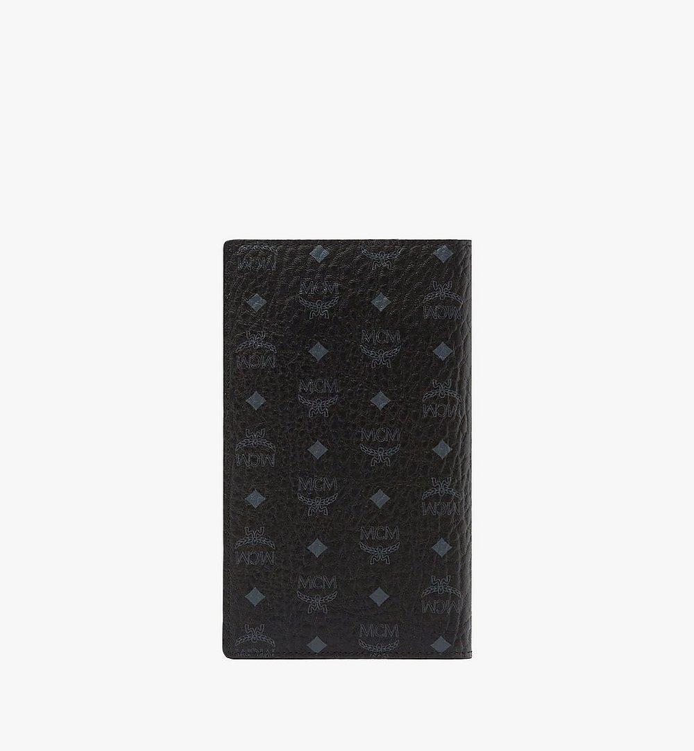 MCM Passport Holder in Visetos Original Black MYV8SVI50BK001 Alternate View 2