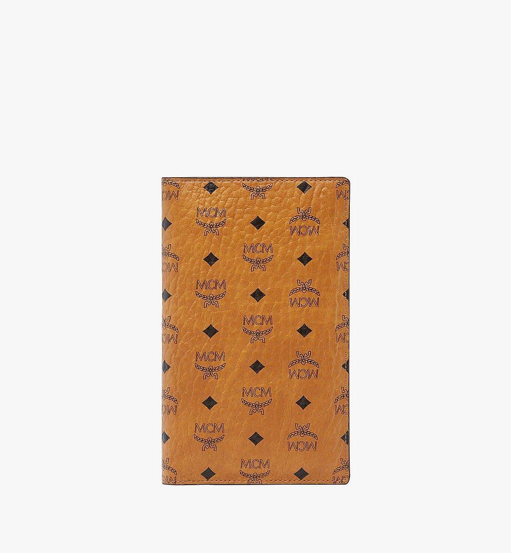 MCM Passport Holder in Visetos Original Cognac MYV8SVI50CO001 Alternate View 1