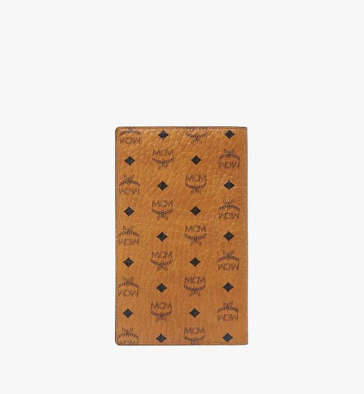 MCM Passport Holder in Visetos Original Cognac MYV8SVI50CO001 Alternate View 3