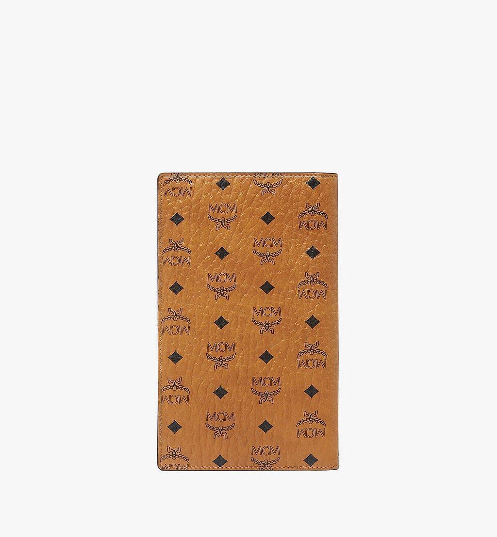 MCM Passport Holder in Visetos Original Cognac MYV8SVI50CO001 Alternate View 2