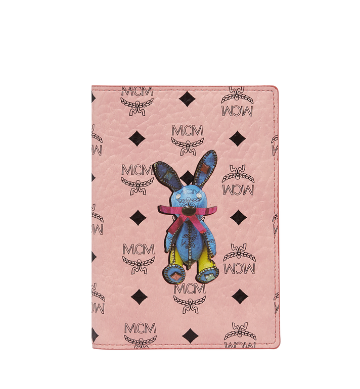 MCM Rabbit Passport Holder in Visetos Alternate View