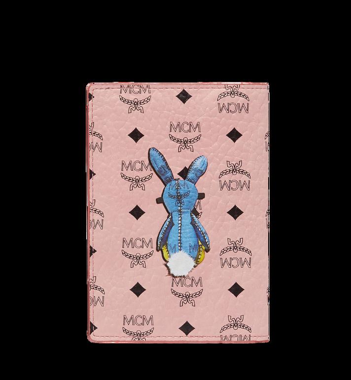 MCM Rabbit Passport Holder in Visetos Alternate View 3