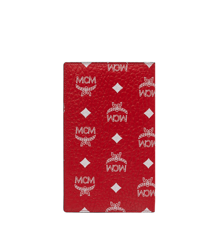 MCM Porte-passeport en Visetos à logo blanc Red MYV9SWA10AV001 Alternate View 3