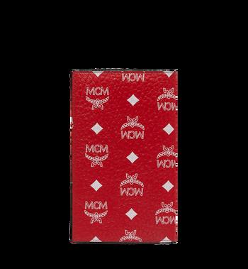 MCM Passport Holder in White Logo Visetos Alternate View 3