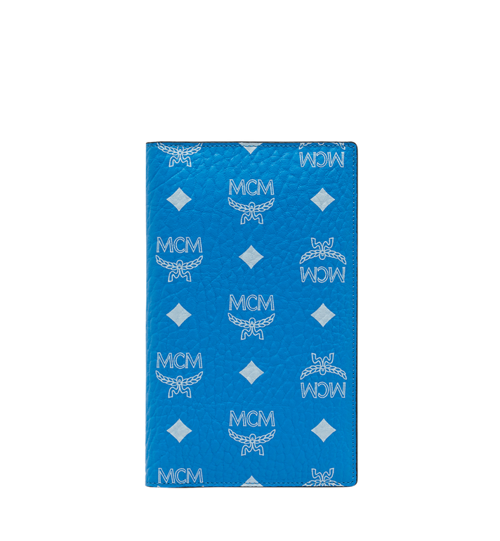 MCM Passport Holder in White Logo Visetos Alternate View 1